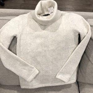 J. Crew mercantile turtleneck cream pullover XS